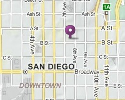 San Diego Office map